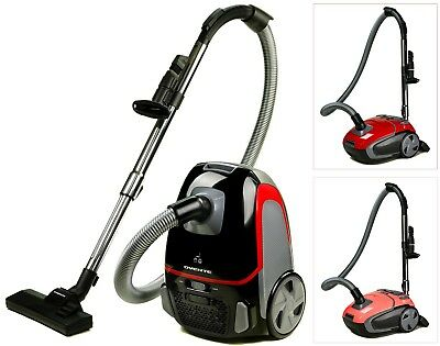 Ovente Canister Vacuum with Tri-Level Filtration Automatic Cable Rewind (ST1600)