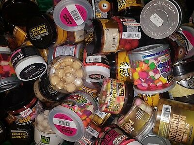 10 tubs of mixed pop up wafters - mixed sizes - carp bait -