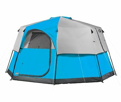 Coleman 8 Person 2 Room Octagon 98 Family Camping Tent w/ RainFly   13' x 13'