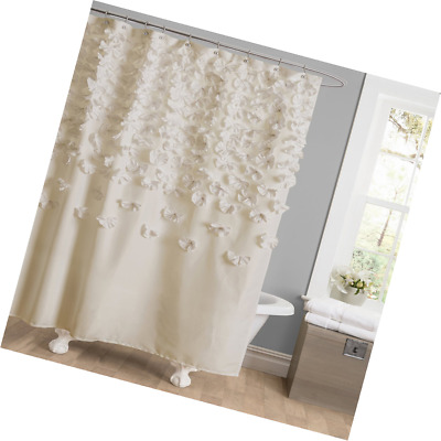 Lush Decor Lucia Shower Curtain 72 X Inches Ivory Bathroom Accessories