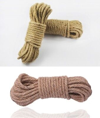 Thick Oiled Hemp Ropes Cordage 5M, 16' Foot , Hen Party Dungeon Restraint Kit