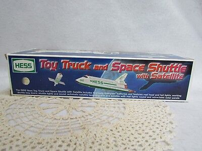 1999 Hess Toy Truck and Space Shuttle with Satellite ~ New in Box!