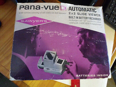 Sawyers Pana-Vue Automatic 2x2 Slide Viewer Original Box and Instructions