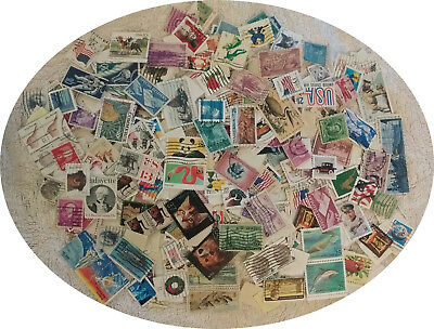 Large lot of 500 U.S. postage Stamps Used OFF PAPER Few Duplicates FREE SHIPPING