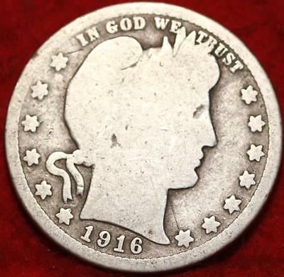 1916 Philadelphia Mint Silver Barber Quarter