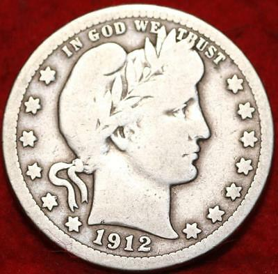 1912 Philadelphia Mint Silver Barber Quarter