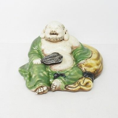 A768: Japanese Budai statue of old HIRADO porcelain with appropriate work