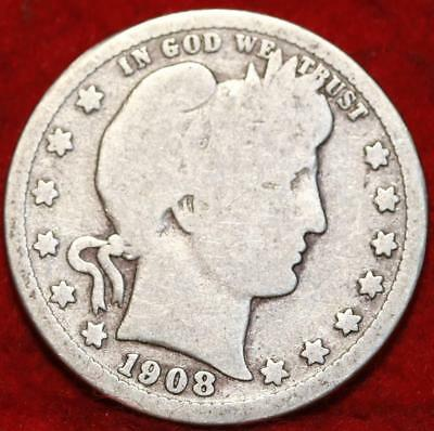 1908-D Denver Mint Silver Barber Quarter
