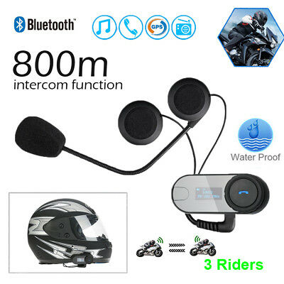 TCOMSC Motorrad Bluetooth Headset Intercom Auto answer FM Gegensprechanlage
