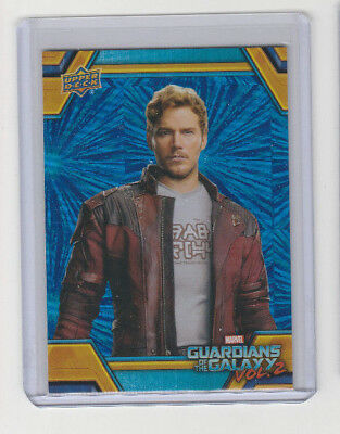 2017 Marvel Guardians of the Galaxy Vol. 2 # RB-6 Star-Lord Blue Foil