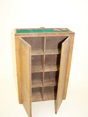 Little Old Wooden Cabinet, Wall Cabinet, Art Deco 34x23x8 cm