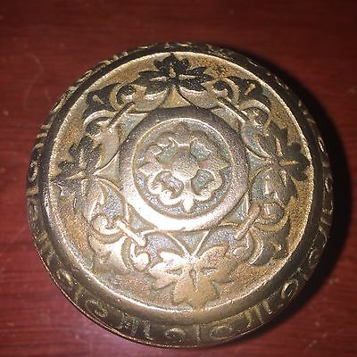 Antique  Gothic/Grec Solid Bronze Polished  Knob From Corbin