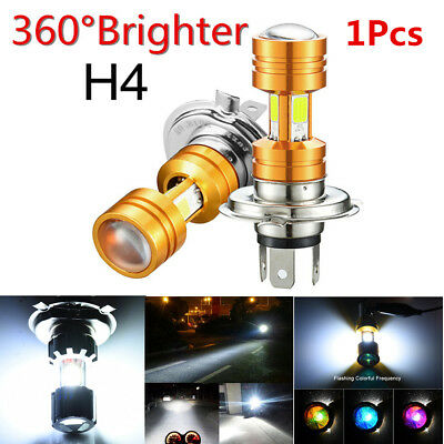1x H4 30W 3500LM COB LED Motorcycle Headlight High Low Beam Front Head Lamp Bulb