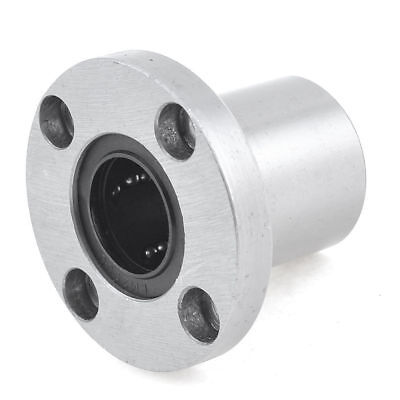 54mm x 20mm Round Base Metal Linear Motion Ball Bearing Silver Tone