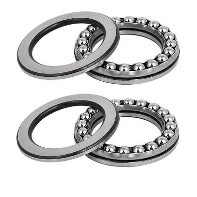 H● 2pcs 40mmx60mmx13mm Single Row Thrust Ball Bearing 51108