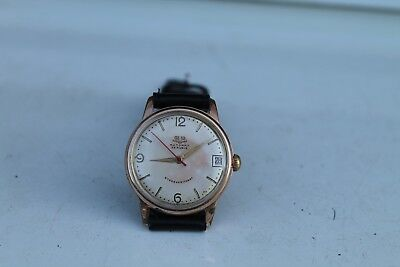 Vintage Old German Made Glashutte GUB Automatic Gold Plated  Men's Wrist Watch