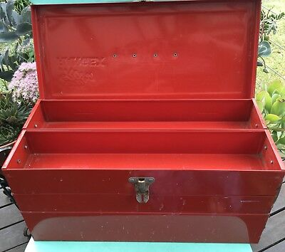 Vintage INDUSTRIAL RETRO RED Rota Rangex CANTALEVER TOOLBOX