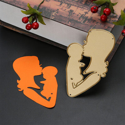 Beautiful Mother Kiss Baby Metal Cutting Dies Photo Album Decor Cutter Card HC