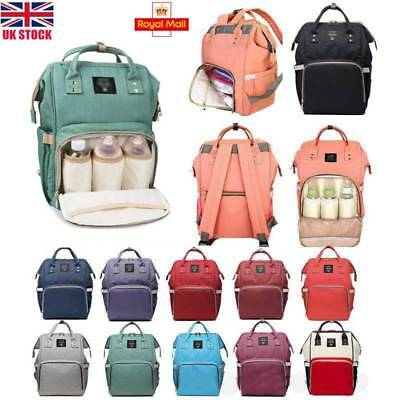 LEQUEEN Waterproof Large Mummy Nappy Diaper Bag Travel Changing Nursing Backpack