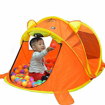 Tiger Camping Tent Foldable Child Portable Baby Toy Game Outdoor Indoor House /
