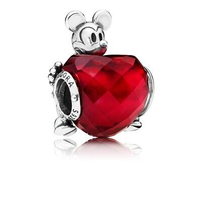 Authentic Pandora Charm Silver Disney MICKEY LOVE mouse Heart 797168NFR