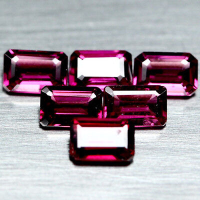 4.91 Ct Aaa Natural 7Pcs Pinkish Purple Africa Rhodolite Garnet Octagon