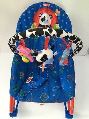 Fischer Price Calming Vibrations Baby Bouncer/Rocker and seat -infant to toddler