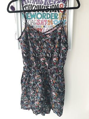 44c63224f8 H M floral playsuit. uk 12. great condition. summer holiday 90s festival