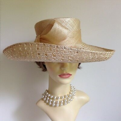 Austin Reed Hat Vintage Sisal Straw Bow Church Wedding Races British Hat Guild 49 99 Picclick Uk