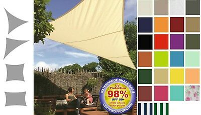 Kookaburra Waterproof Shade Sail Sun Canopy Patio Awning Garden 98% UV Outdoor