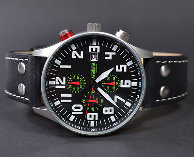 ASTROAVIA XL AIR CRAFT 21L NEW EDITION 6 ZEIGER CHRONOGRAPH 44mm FLIEGERUHR 21.1