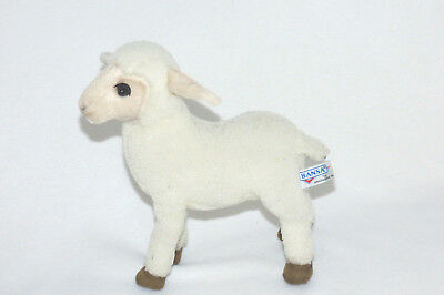 "Hansa White Lamb Sheared Sheep 12"" Tall Life Like 2004 Plush Stuffed Toy RARE"