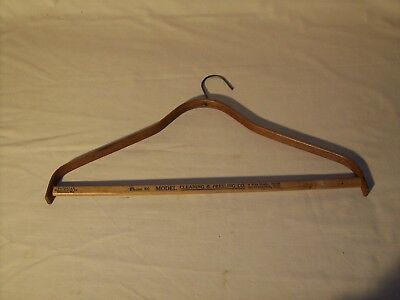 Vintage Wood Clothes Hanger 2 Digit Phone Number Advertising Huntington Indiana