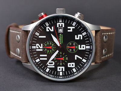 ASTROAVIA XL AIR CRAFT 21L NEW EDITION 6 ZEIGER CHRONOGRAPH 44mm FLIEGERUHR 21.2