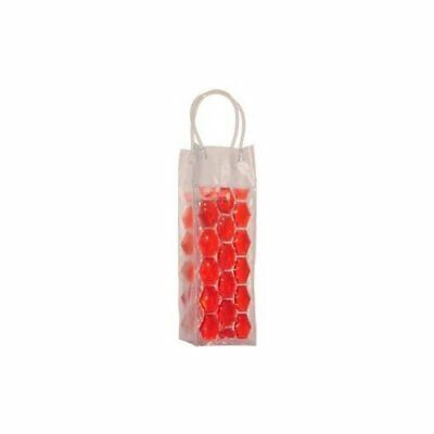 eBuyGB Wine Bag Beer Bottle Cooler and Ice Chiller Freezable Carrier, Red