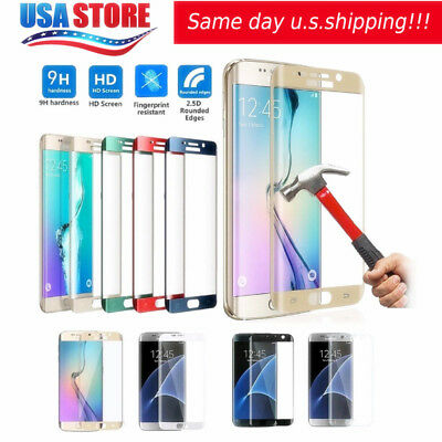 6D Full Cover Curved Temper Glass Screen Protector For Samsung S9 S8 Note 8 Lot