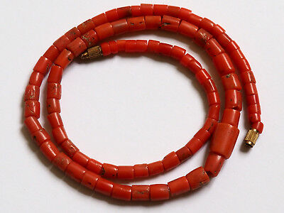 Natural Antique Red Coral Organic Untreated Necklace 100 % Original Old 珊瑚自然之星