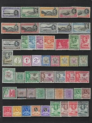 British Africa 225 Stamps Mint Most Lh/some Nh/minor Faults- Some Complete Sets