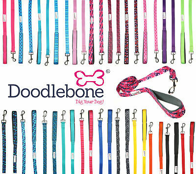 Doodlebone Bold Padded Nylon Dog Puppy Leads - 11 colours to choose from
