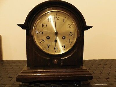 Vintage Oak Case Mantel Clock