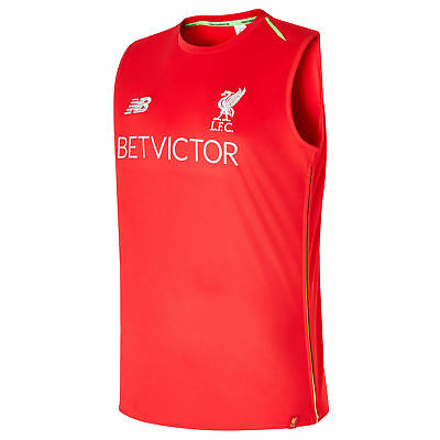 Official Liverpool Elite Training Vest Red Mens New Balance