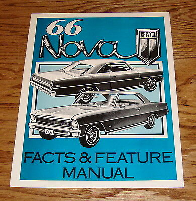 1966 Chevrolet Chevy II Nova Illustrated Facts & Feature Manual 66