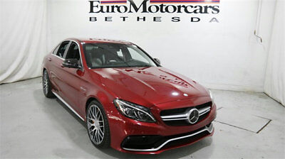 Mercedes-Benz C-Class AMG C 63 S Sedan mercedes benz c 63 s c63 c63s amg used 15 16 17 18 red white navigation v8