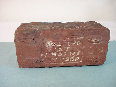 Antique Red Brick Street Paver GREGORY CORNING NY - THE BEST BY TEST Glass Works
