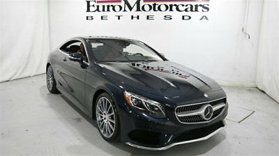 Mercedes-Benz S-Class 2dr Coupe S 550 4MATIC mercedes benz s coupe s550 4matic awd 15 16 used blue navigation brown certified