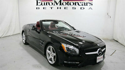 Mercedes-Benz SL-Class 2dr Roadster SL 400 mercedes benz sl400 sl 400 roadster convertible black red 14 15 used certified
