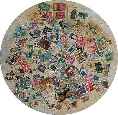 Large lot of 300 U.S. postage Stamps Used OFF PAPER Few Duplicates FREE SHIPPING