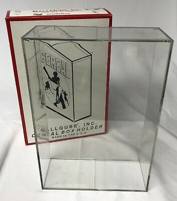 BALLQUBE Cereal Size (Wheaties) Acrylic Display Cube-FREE shipping