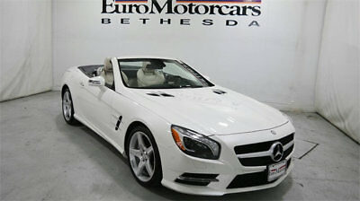 Mercedes-Benz SL-Class 2dr Roadster SL 550 mercedes benz sl550 sl 550 roadster convertible white tan 14 15 used certified