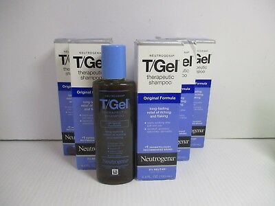 6 Neutrogena T/gel Therapeutic Shampoo Original 4.4 Oz Ea  Exp 3/19+ Jl 4703